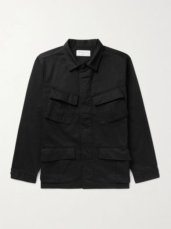 OFFICINE GÉNÉRALE Garment-Dyed Slub Cotton Jacket