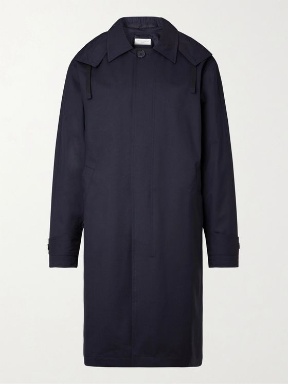 OFFICINE GÉNÉRALE Thibaud Tech Wool-Blend Hooded Trench Coat