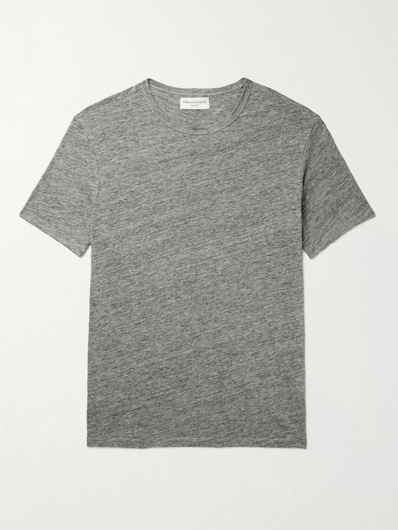 OFFICINE GÉNÉRALE Heather Mélange Linen T-Shirt