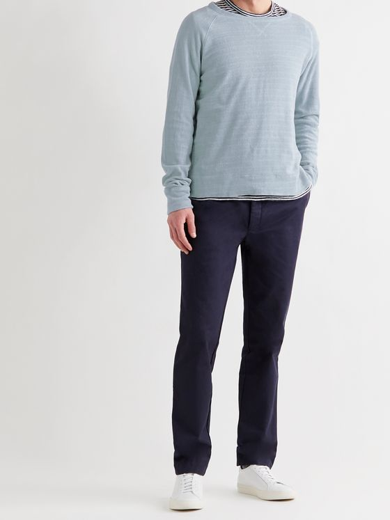 OFFICINE GÉNÉRALE Rudy Garment-Dyed Cotton-Terry Sweatshirt