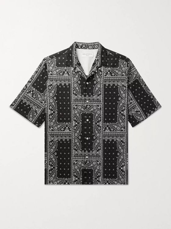 OFFICINE GÉNÉRALE Eren Camp-Collar Bandana-Print Cotton-Voile Shirt
