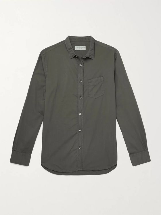 OFFICINE GÉNÉRALE Lipp Slim-Fit Pigment-Dyed Cotton Shirt