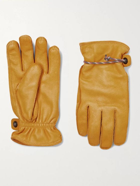 Hestra Granvik Wool-Lined Full-Grain Leather Gloves