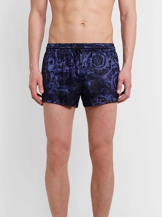 Versace Short-Length Jacquard Swim Shorts