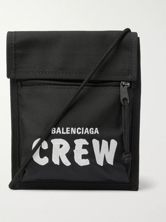 Balenciaga Explorer Logo-Embroidered Canvas Messenger Bag