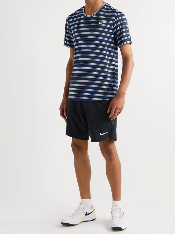 Nike Tennis NikeCourt Striped Dri-FIT Tennis T-Shirt