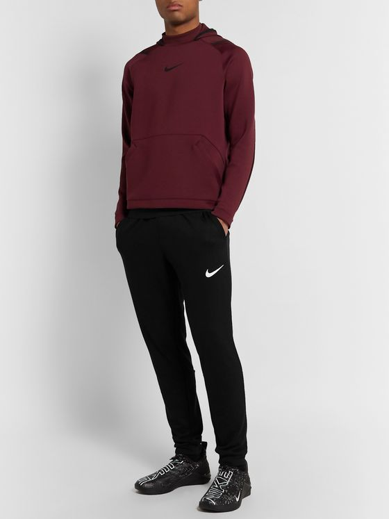 Nike Training Slim-Fit Tapered Logo-Print Fleece-Back Jersey Sweatpants