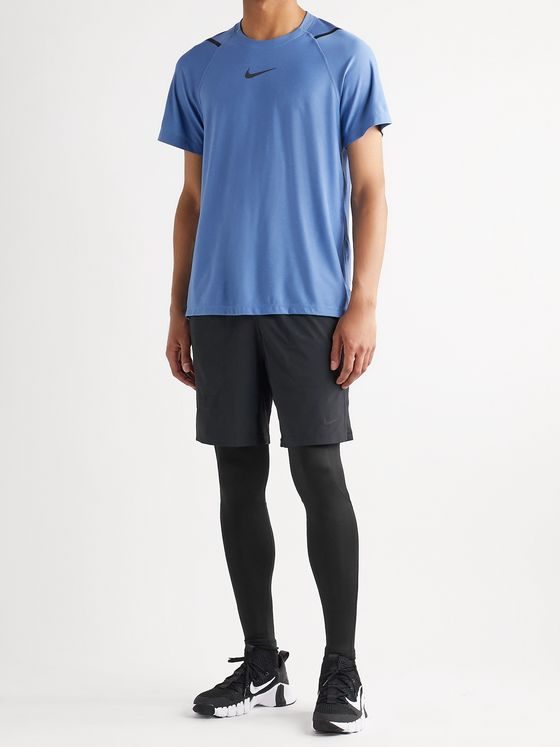 Nike Training Pro Logo-Print Dri-FIT Tights