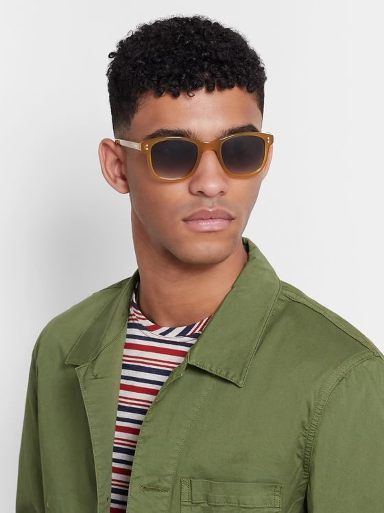 Oliver Spencer Spencer D-Frame Acetate Sunglasses