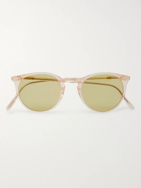 OLIVER PEOPLES O'Malley Round-Frame Acetate Sunglasses