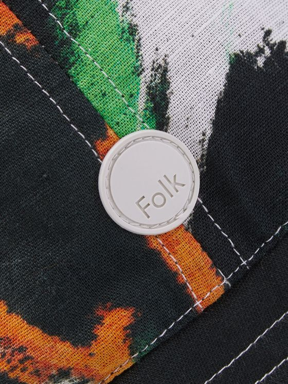 Folk + Alfie Kungu Logo-Appliquéd Printed Linen and Cotton-Blend Bucket Hat