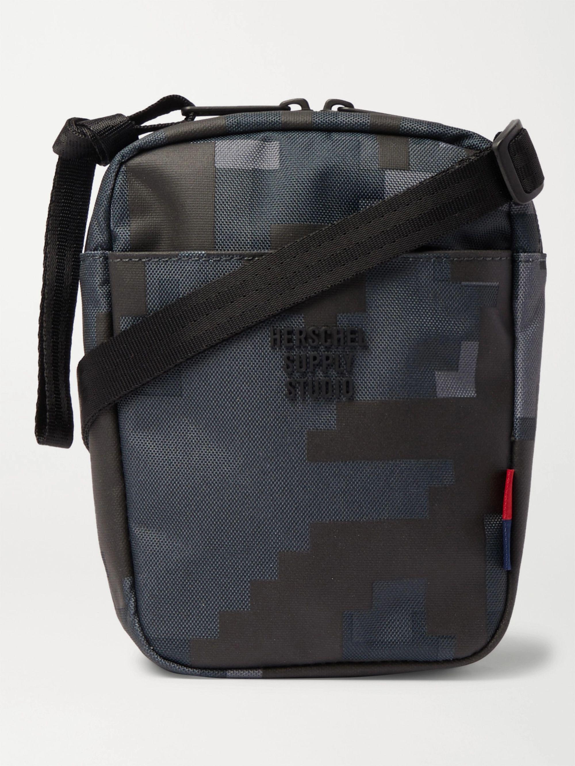 HERSCHEL SUPPLY CO Cruz Camouflage-Print Sailcloth Messenger Bag,Navy