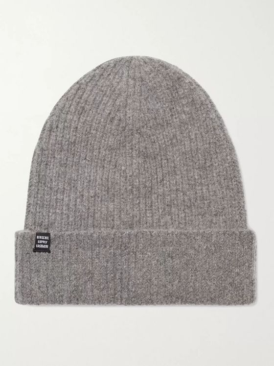 HERSCHEL SUPPLY CO Cardiff Ribbed Cashmere and Wool-Blend Beanie