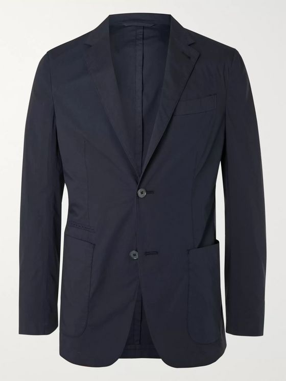 ERMENEGILDO ZEGNA Unstructured Cotton-Blend Tela Vela Blazer