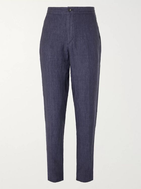 Ermenegildo Zegna Tapered Linen Suit Trousers