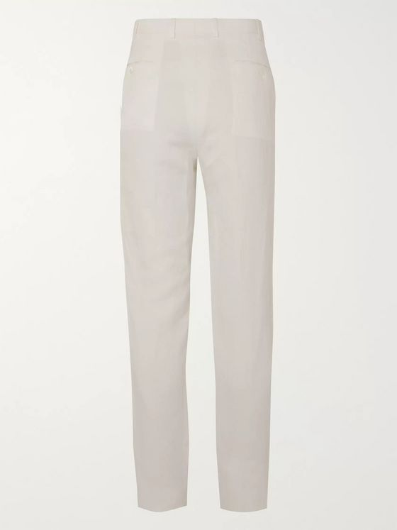 Ermenegildo Zegna Linen and Silk-Blend Trousers