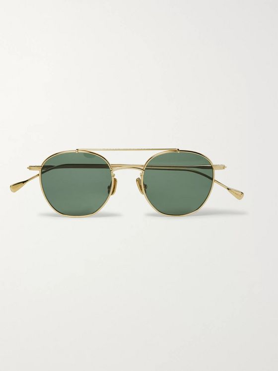 Native Sons Roy Explorer Aviator-Style Gold-Tone Sunglasses