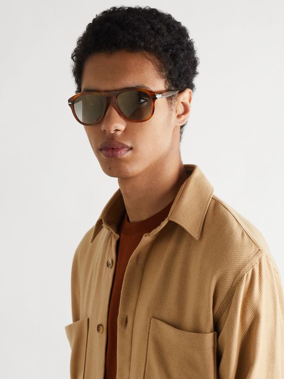 PERSOL 649 Aviator-Style Acetate Polarised Sunglasses