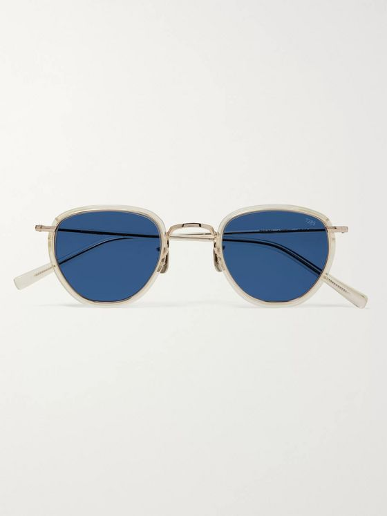 Eyevan 7285 D-Frame Acetate and Gold-Tone Sunglasses