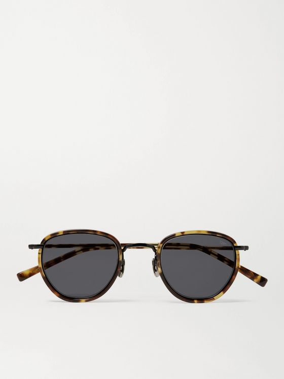 EYEVAN 7285 D-Frame Tortoiseshell Acetate and Metal Sunglasses