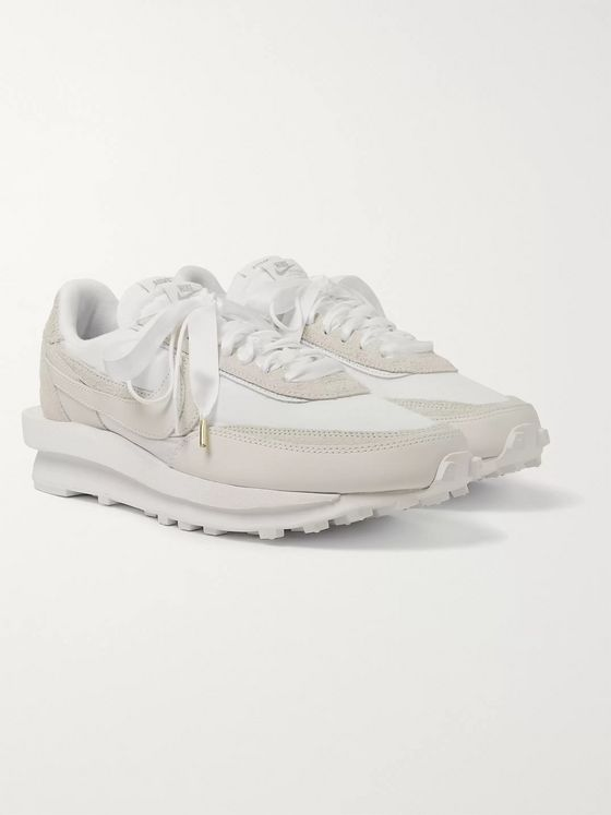 Nike + Sacai LDWaffle Leather, Suede and Mesh Sneakers