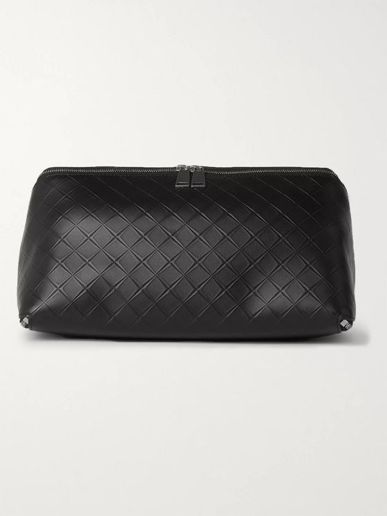 Bottega Veneta Intrecciato-Debossed Leather Wash Bag