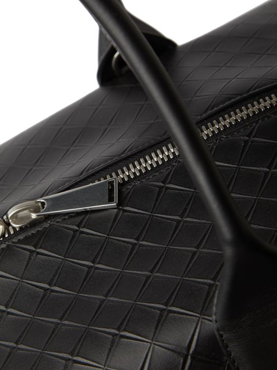 Bottega Veneta Intrecciato-Embossed Leather Holdall