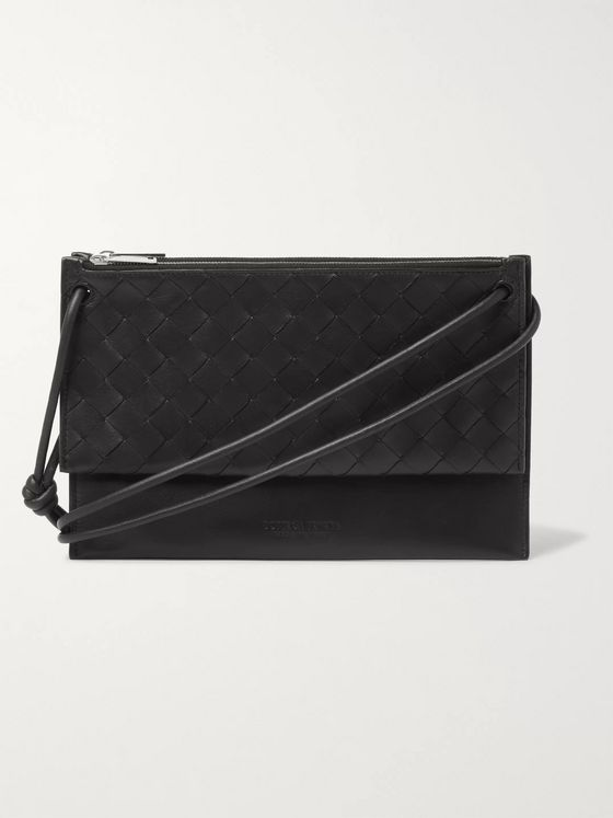 Bottega Veneta Intrecciato Leather Messenger Bag