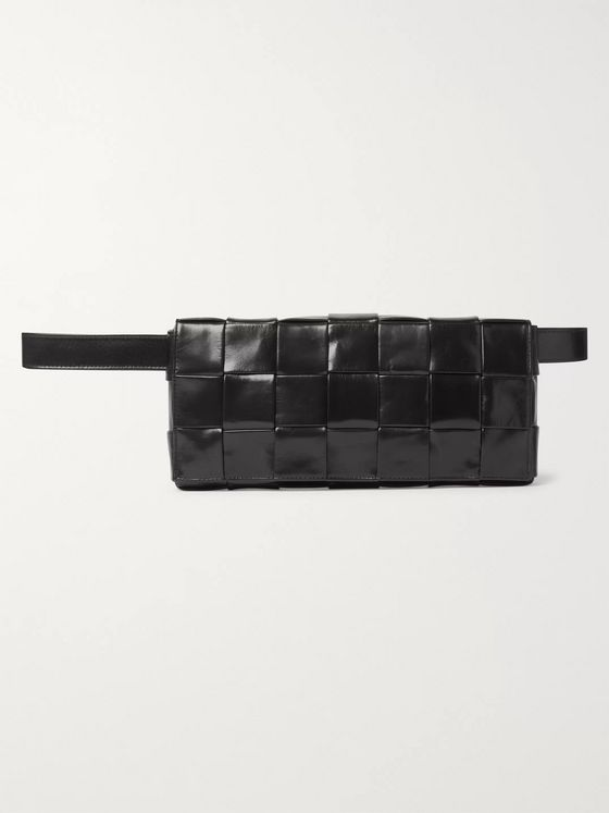 Bottega Veneta Intrecciato Leather and Suede Belt Bag