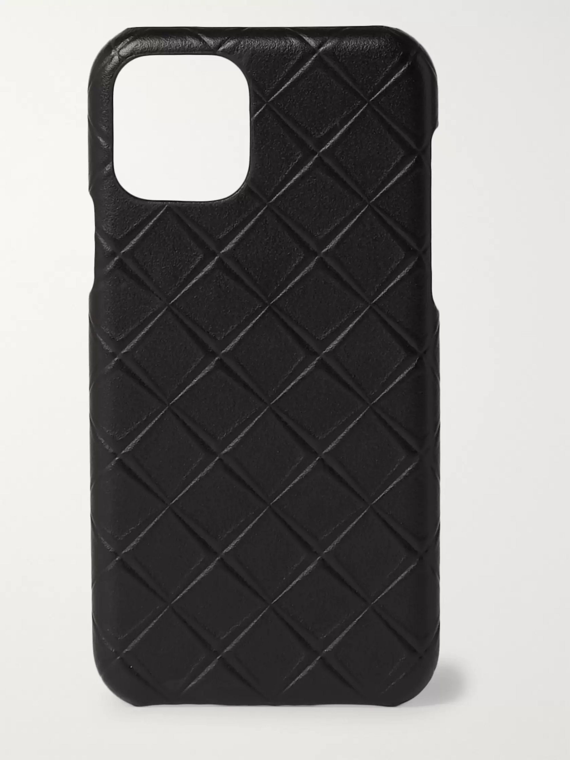 BOTTEGA VENETA Intrecciato-Embossed Leather iPhone 11 Case