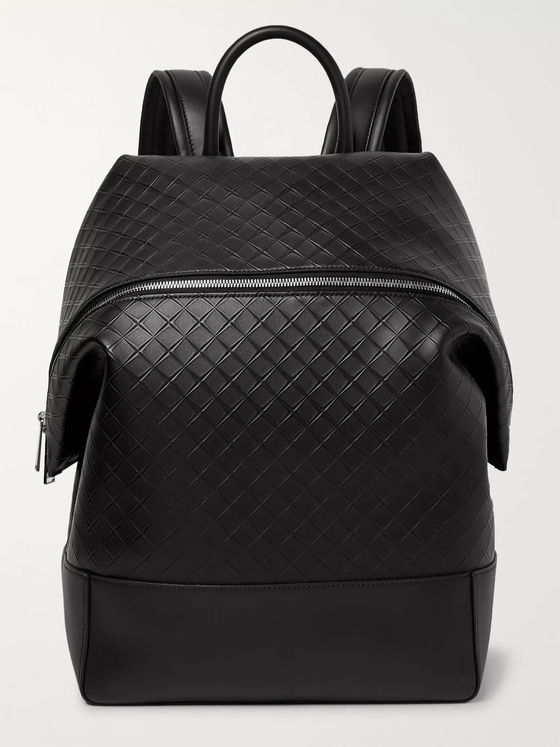 Bottega Veneta Intrecciato-Embossed Leather Backpack