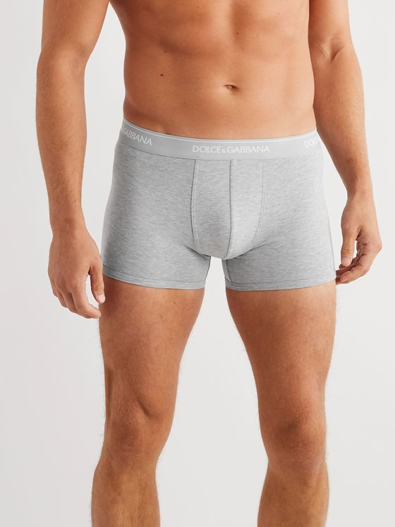 Dolce & Gabbana Two-Pack Stretch-Cotton Boxer Briefs