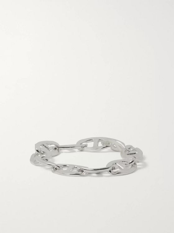 Martine Ali Anchor Sterling Silver Chain Ring
