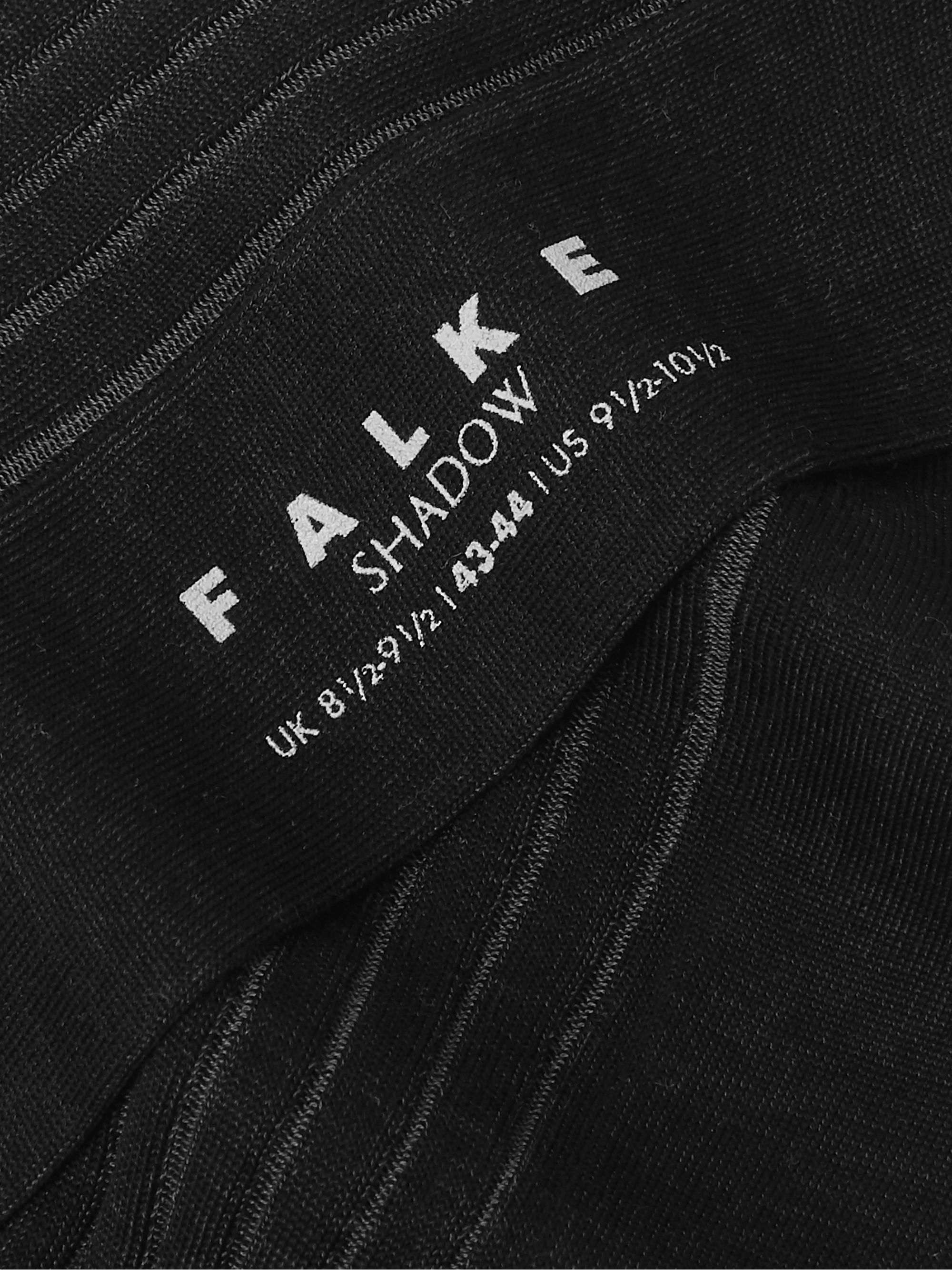 FALKE Shadow Ribbed Fil d'Ecosse Cotton-Blend Socks