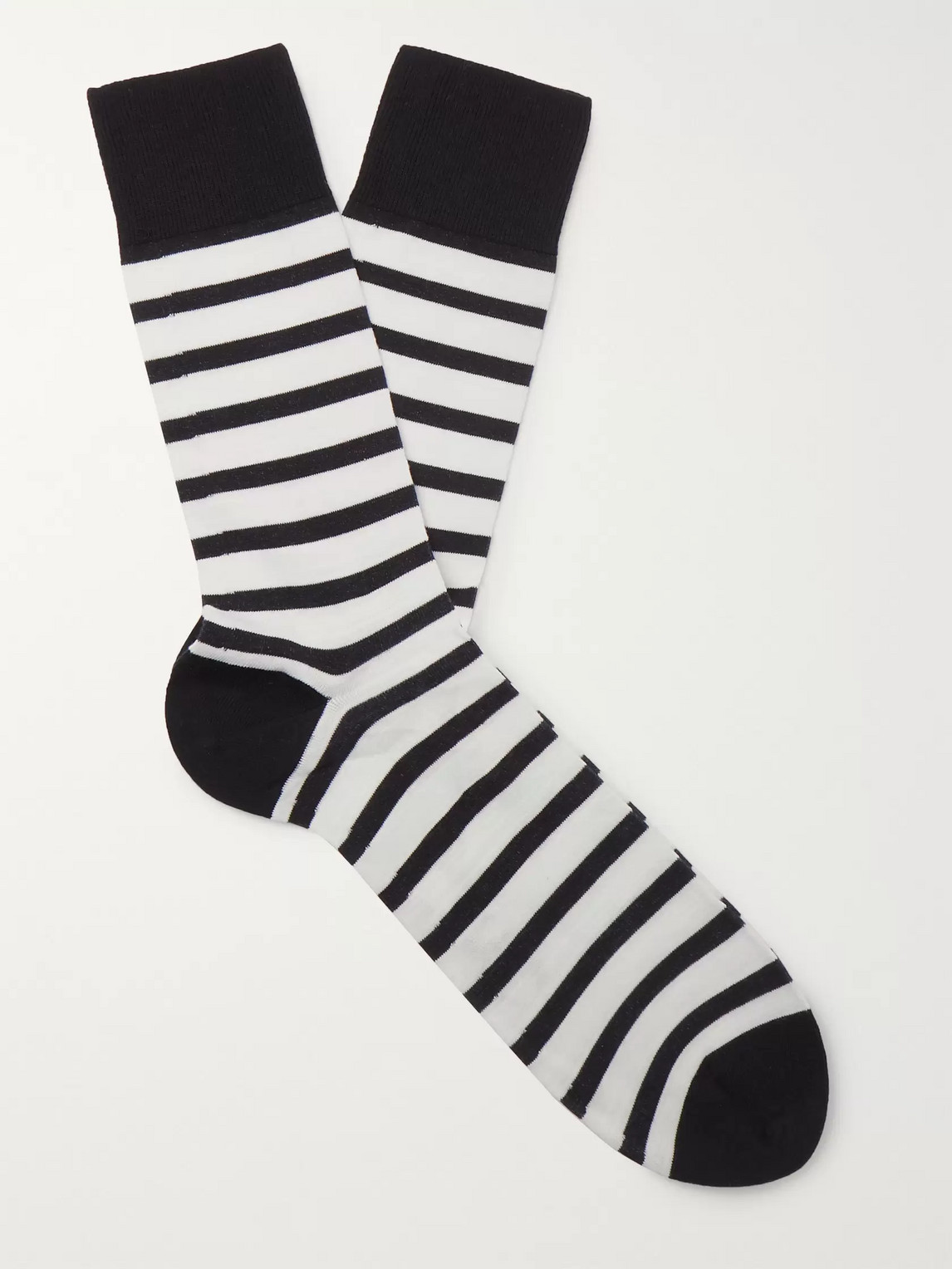 falke - striped cotton-blend socks - men - blue