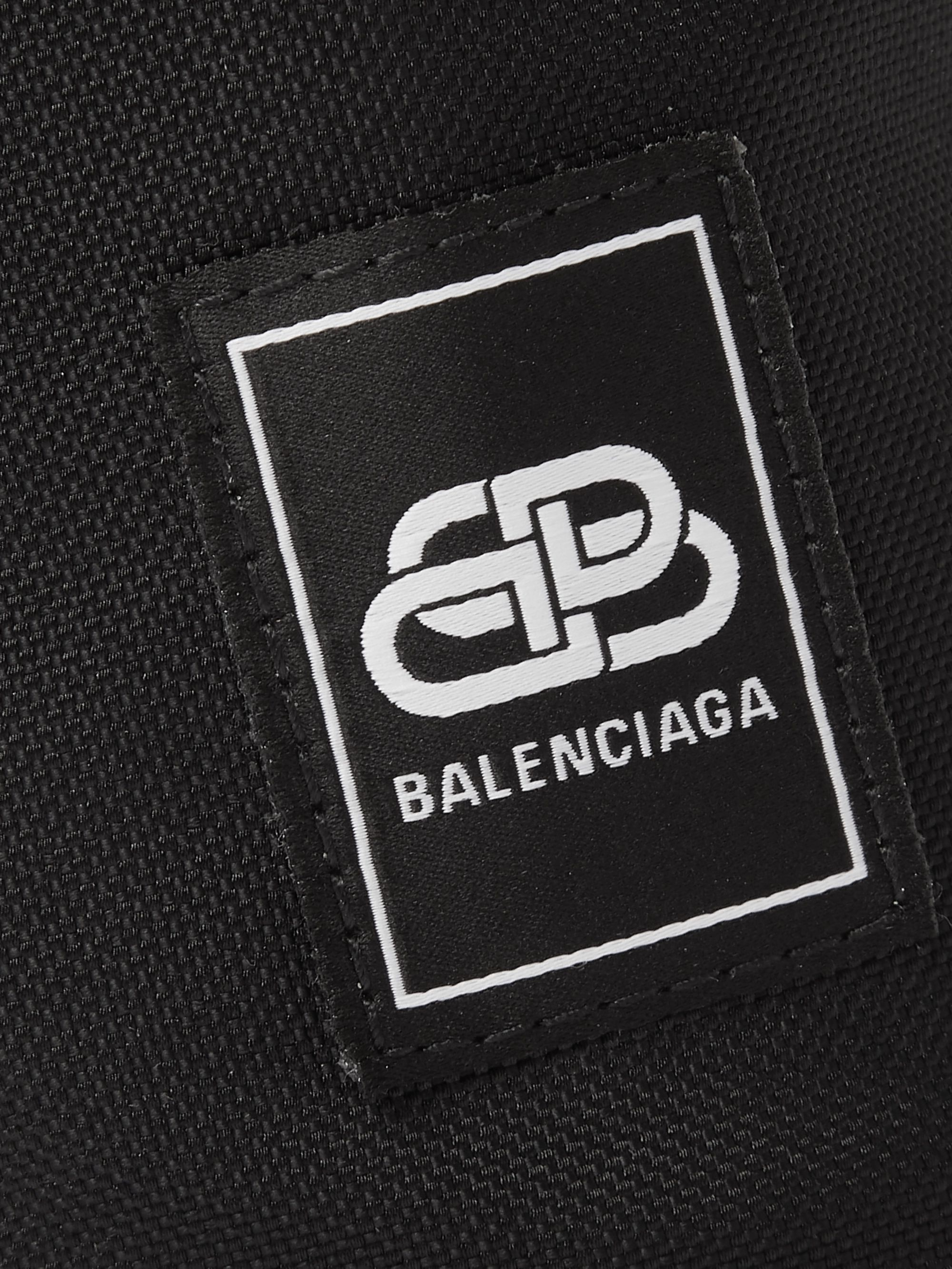 Balenciaga Logo-Appliquéd Canvas Water Bottle Pouch