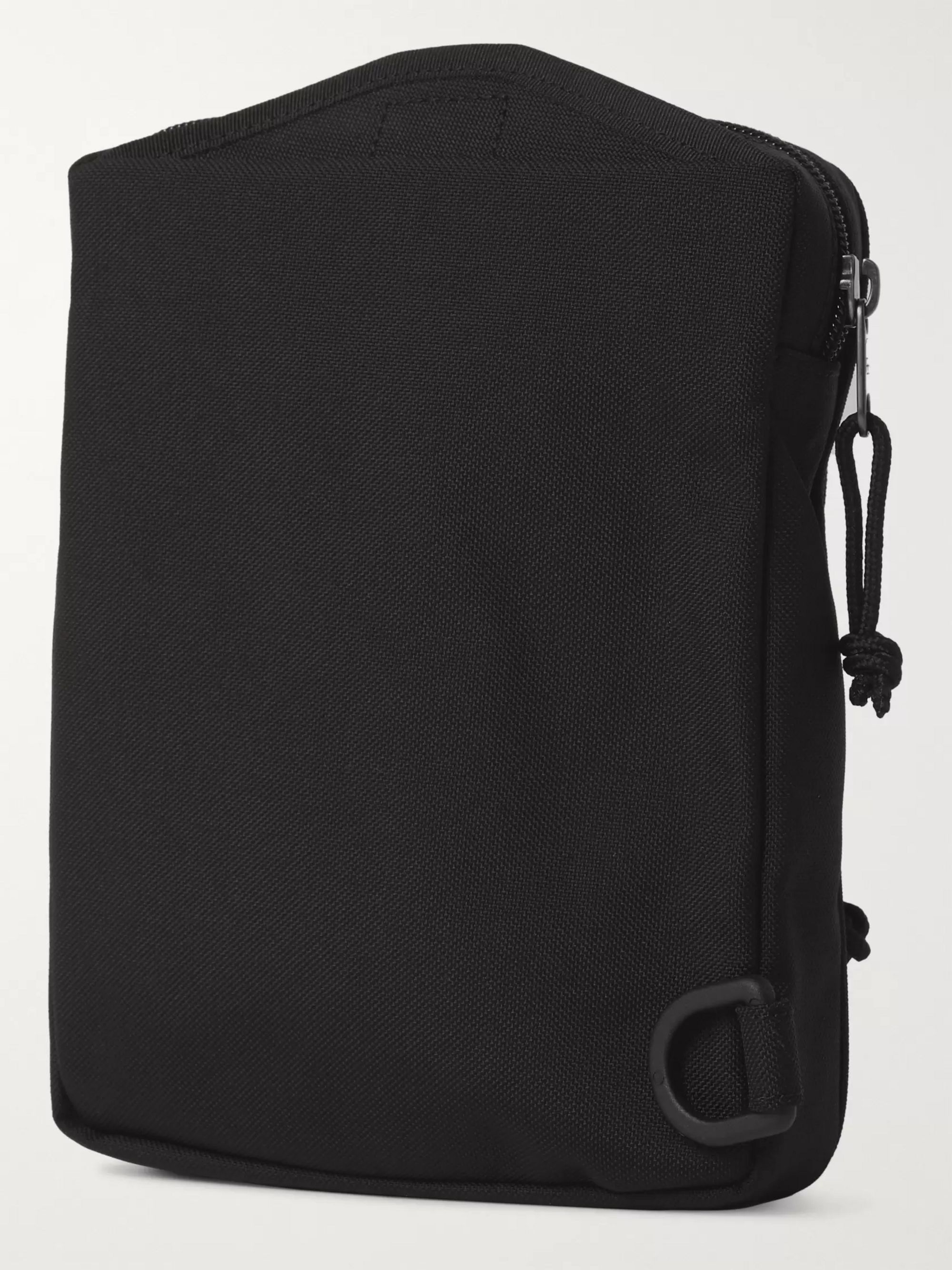 Black Logo-appliquéd Canvas Messenger Bag | Balenciaga