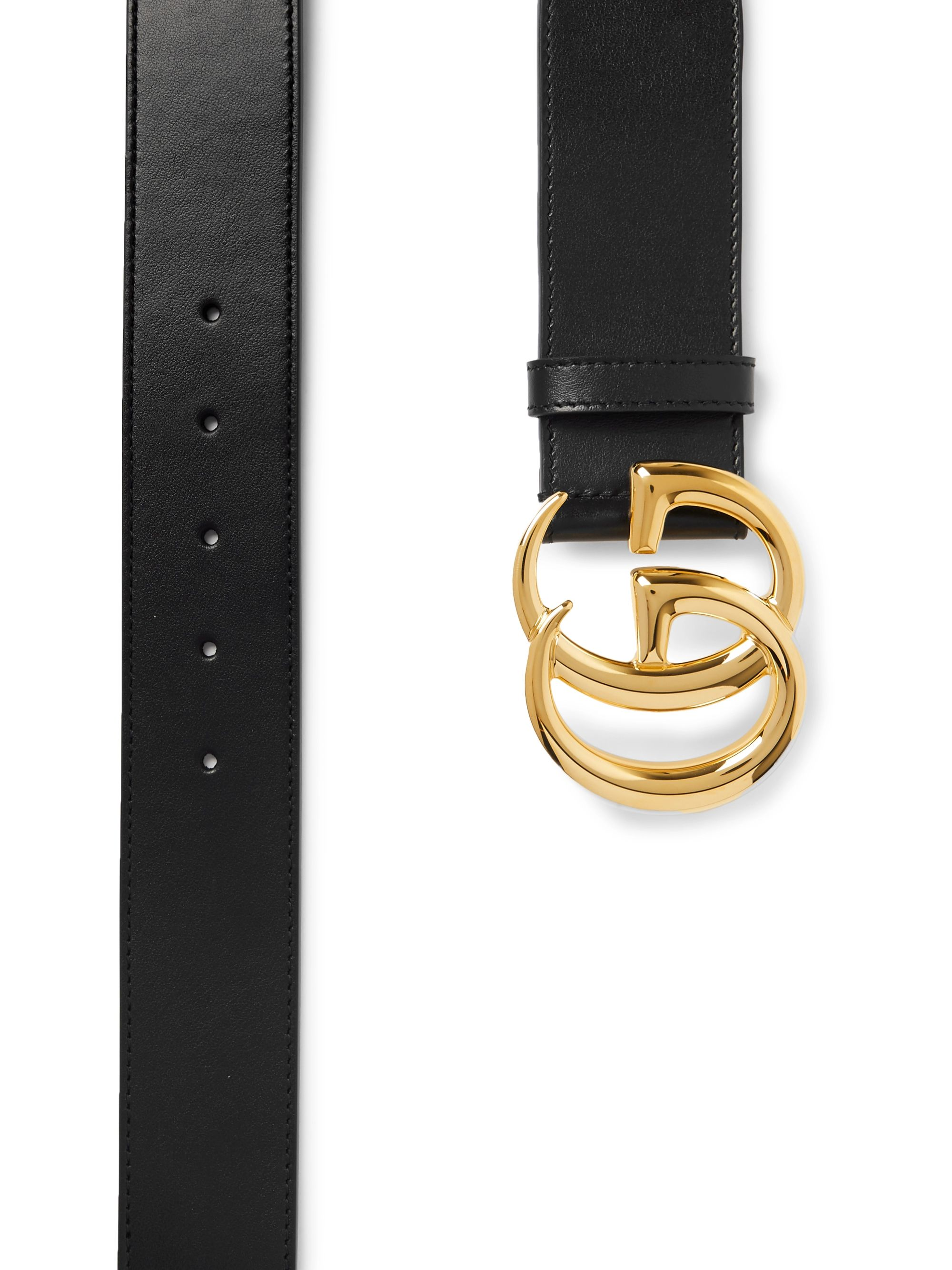Gucci 4cm Black Leather Belt