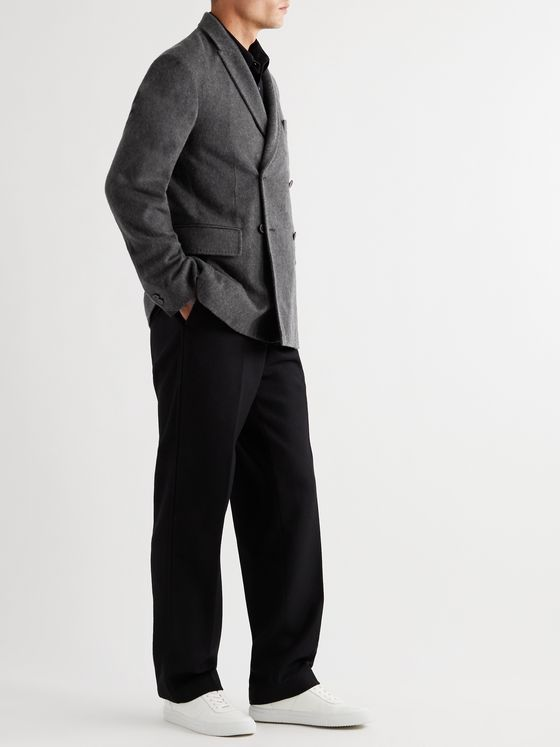 MR P. Double-Breasted Unstructured Cashmere Blazer