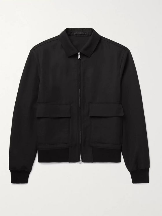 MR P. Virgin Wool-Twill Blouson Jacket