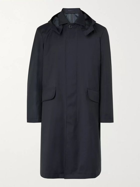 MR P. Tech Virgin Wool Hooded Coat