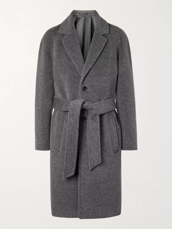 MR P. Belted Brushed Virgin Wool and Alpaca-Blend Coat