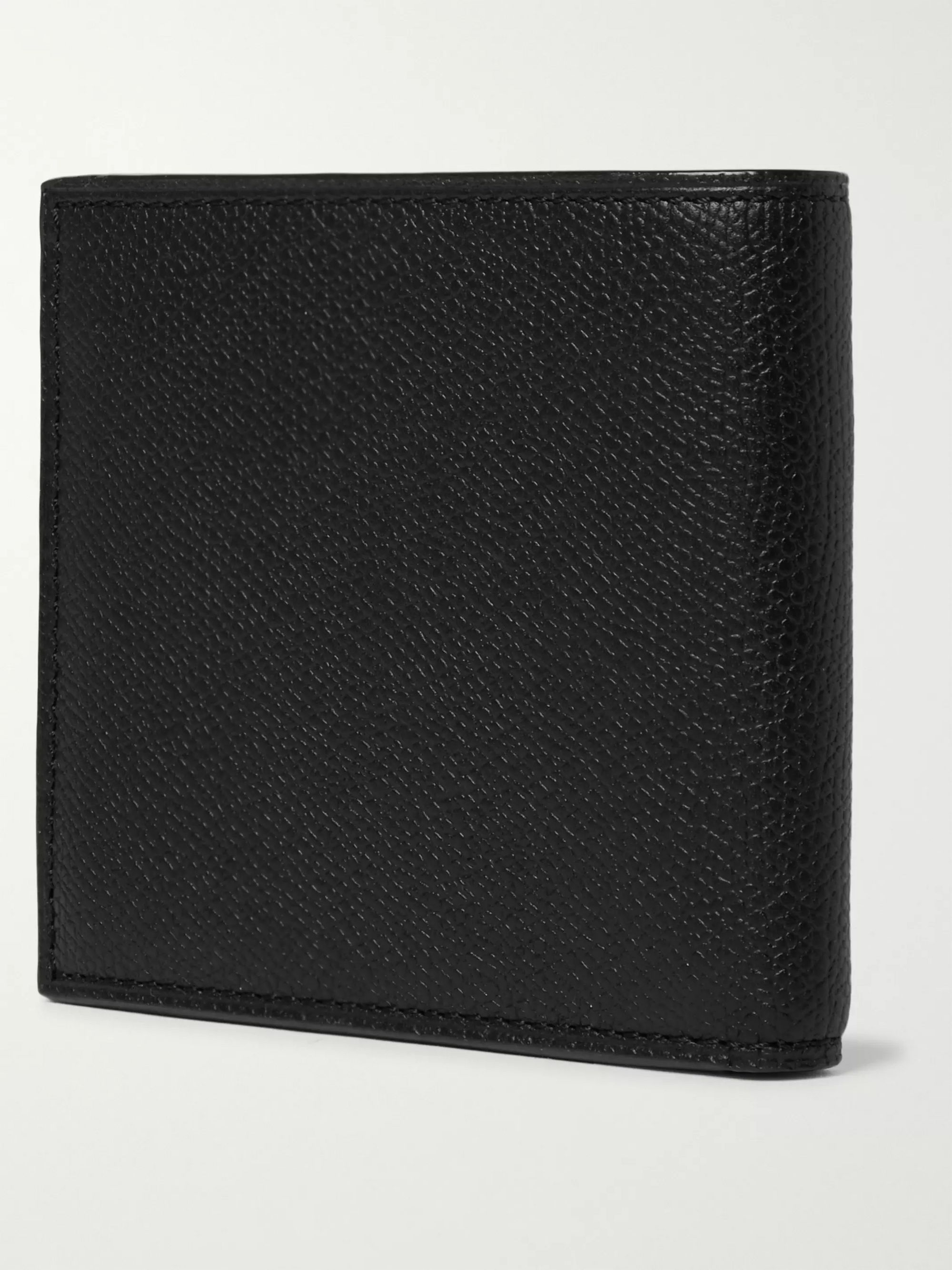 Valextra Pebble-Grain Leather Billfold Wallet