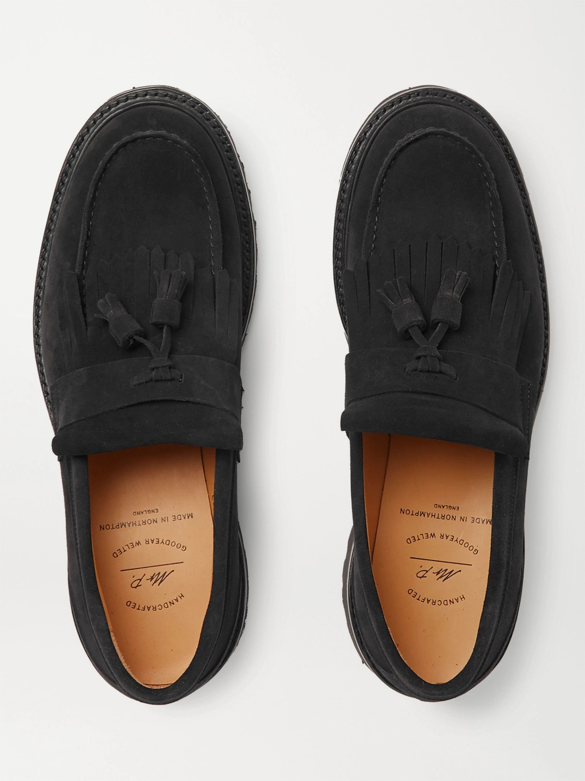 MR P. Heath Goodyear-Welted Suede Tasselled Loafers