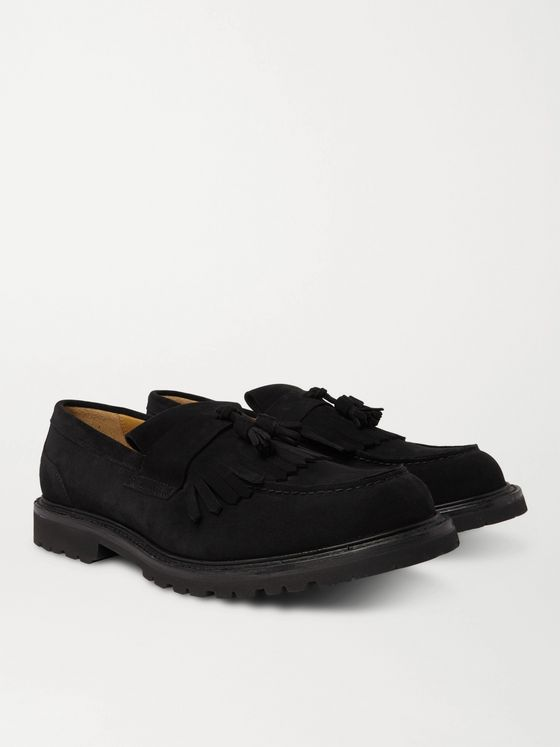 Mr P. Heath Suede Tasselled Loafers