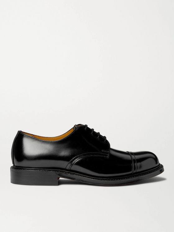 MR P. Heath Goodyear-Welted Cap-Toe Polished-Leather Derby Shoes