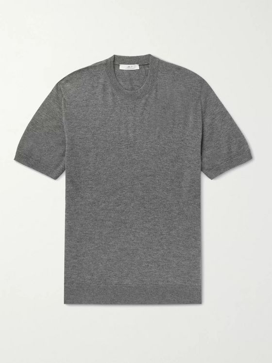 MR P. Knitted Cashmere and Silk-Blend T-Shirt