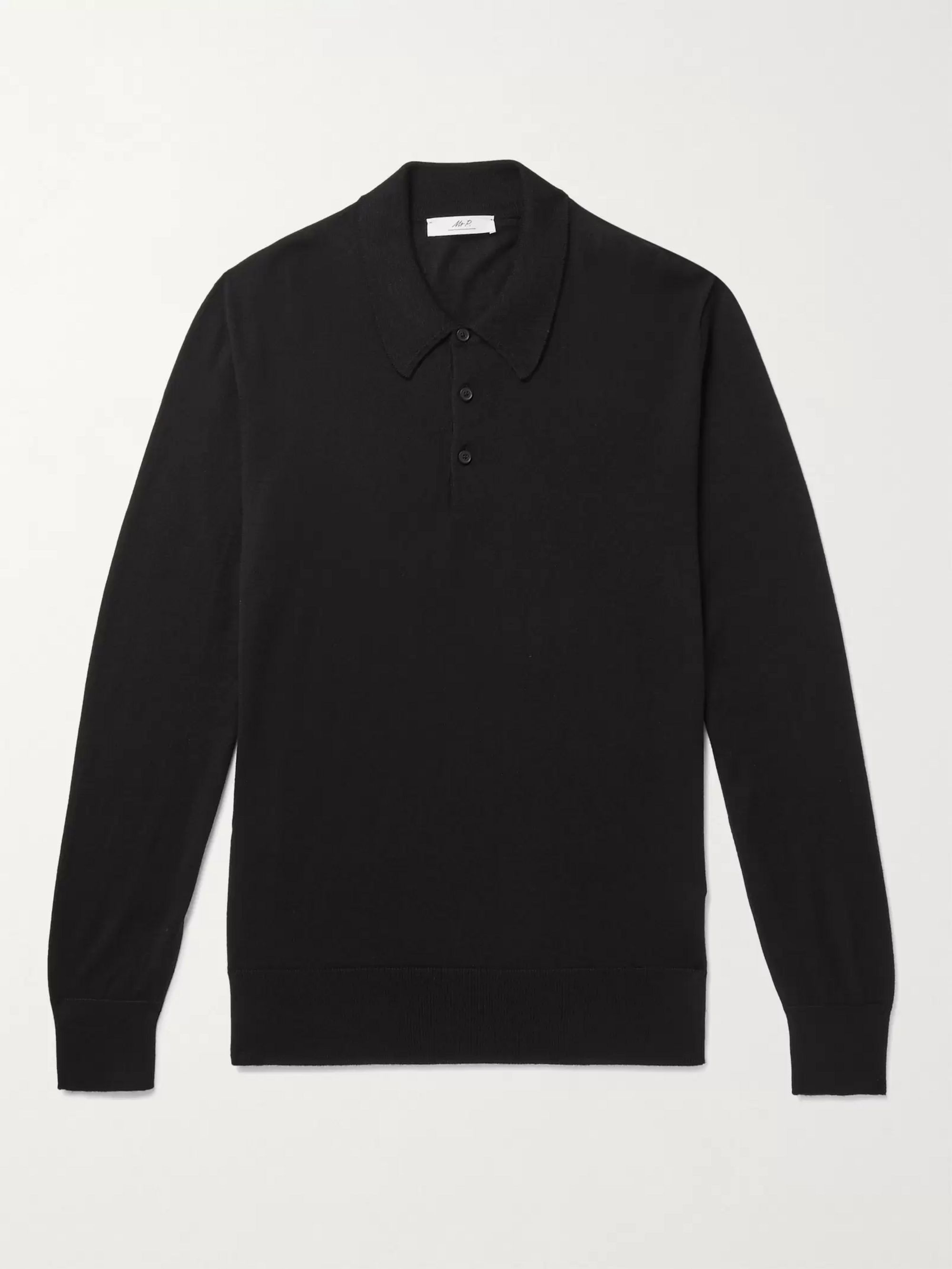 Mr P. Cashmere and Silk-Blend Polo Shirt
