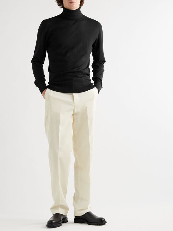 MR P. Slim-Fit Cashmere and Silk-Blend Rollneck Sweater