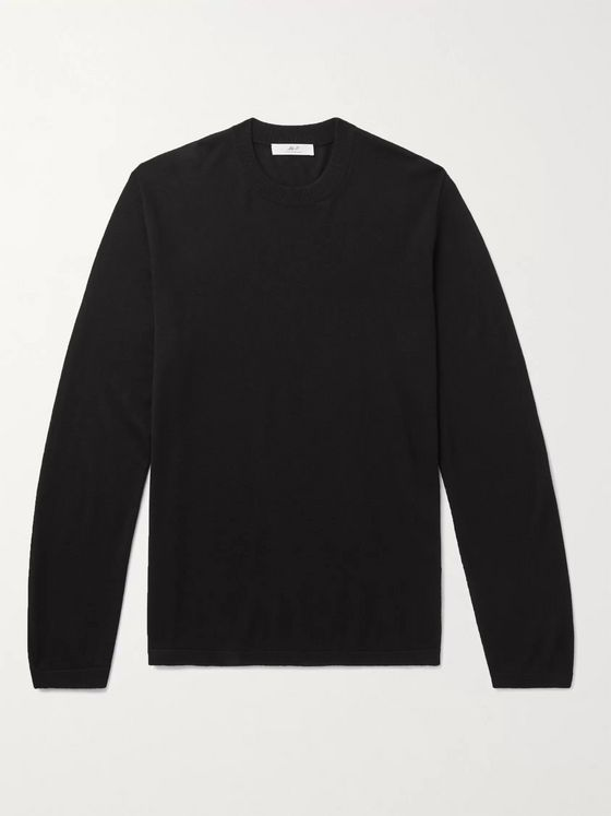 MR P. Cashmere and Silk-Blend Sweater